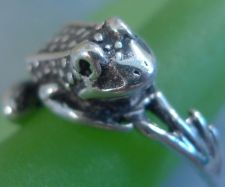 Buy sz 9 Ring Vintage Sterling Frog Bypass Wrap Around Legs Ring