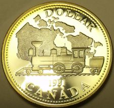 Buy Awesome Canada Cameo Silver Proof 1981 Dollar~Transcontinenial Railroad~Free Shi