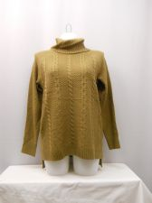Buy Faded Glory Women's Sweater Size 20 Cable Tunic Turtle Neck Solid Camel Pullover