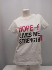Buy Susan G Komen Women's Tee-Shirt Size M Breast Cancer Awareness White 100% Cotton