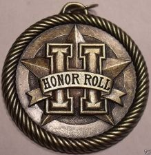 Buy MASSIVE HONOR ROLL MEDALLION FOR EXCELLENT STUDENTS~F/S