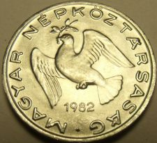 Buy Gem Unc Hungary 1982 10 Filler~A Dove With a Branch~Love Coin~Free Shipping