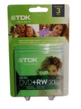 Buy TDK 3 Pack Mini DVD+RW 30 Minute 1.4GB Discs