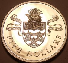 Buy Rare Silver Proof Cayman Islands 1972 $5 Dollars~Only 11,000 Minted~Free Ship
