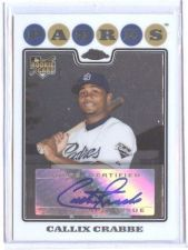Buy MLB 2008 TOPPS CHROME #234 CALLIX CRABBE AUTO RC MNT