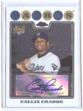 Buy MLB 2008 TOPPS CHROME #234 CALLIX CRABBE AUTO RC MNT