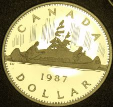 Buy Proof Canada 1987 Canoe Dollar~Only 175,686 Minted~Proofs Are Best~Free Shipping