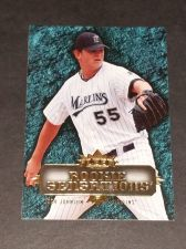 Buy MLB JOSH JOHNSON MARLINS 2007 FLEER ROOKIE SENSATIONS INSERT GD-VG
