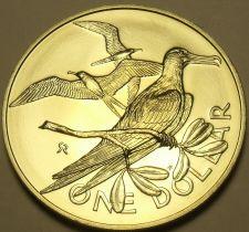Buy Rare Gem Unc British Virgin Islands 1974 Dollar~12k Mint~Magnificent Frigate~F/S