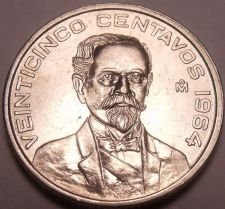Buy Unc Mexico 1964 25 Centavos~Minted In Mexico City~1st Year Ever~Free Shipping