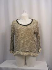 Buy Jessica Simpson Women's Sweater Plus Size 1X Gray 3/4 Sleeves Scoop Neck Thin