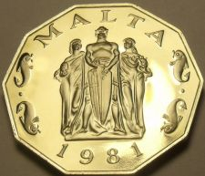 Buy Rare Massive Cameo Proof Malta 1981 50 Cents~Great Siege~1,453 Minted~Free Ship