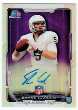 Buy NFL 2015 BOWMAN CHROME REFRACTOR SHANE CARDEN AUTO RC MNT