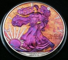 Buy High Grade Rainbow Monster Toned Silver American Eagle 1oz fine uncirc. #a201