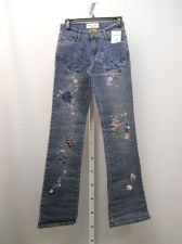 Buy Milano Moda Stonewashed Embellished Women's Boot Cut Legs 26X33 Jeans Size 3-4