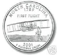 Buy 2001-P NORTH CAROLINA BRILLIANT UNC STATE QUARTER