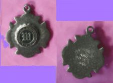 Buy vintage Silver WAKEFIELD HIGH SCHOOL CLASS CHARM 1964 MOONLIGHT AND ROSES