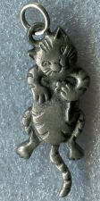 Buy ADORABLE HINGED MOVING vintage UNMARKED CAT CHARM