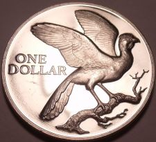 Buy Rare Proof Trinidad & Tobago 1973 Dollar~Coerico Bird~Only 20,000 Minted~Fr/Ship