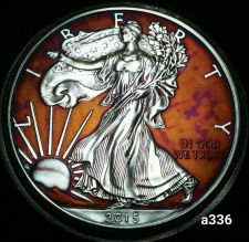 Buy 2015 Rainbow Monster Toned Silver American Eagle 1oz fine with velvet case #a336