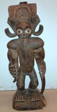Buy SUPERB 19TH CENTURY AFRICAN TRIBAL ANTIQUE CARVED WOOD STATUE, CHOKWE, ANGOLA-NR