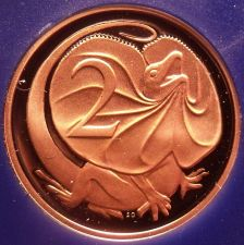 Buy Rare Cameo Proof Australia 1979 Proof 2 Cents~Only 36,000 Minted~Lizard~Free Shi