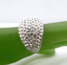 Buy sz 7 Sparkling Pave Dome Ring marked AU and 925 (sterling)