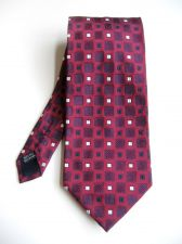 Buy A0475 Fabio Fazio NEW Men's 100% Silk Red Square Textured Classic Neck Tie PR