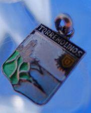 Buy TORREMOLINOS BEACH SPAIN Enamel & Silver Travel Shield Souvenir Charm