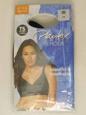 Buy Playtex 18 Hour Women's Bra 38B Solid Black Wire Free Back Close Cushion Strap