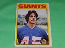 Buy VINTAGE PETE ATHAS GIANTS 1972 TOPPS FOOTBALL GD-VG