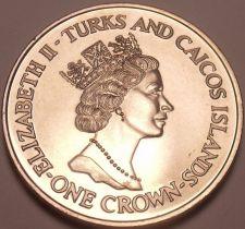 Buy Massive Turks & Caicos Islands 1991 Crown~Royal Birthdays Elizabeth & Phillip~FS