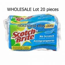 Buy Non-Scratch Scrub Sponge 20 pcs Cleaning Tool Scotch Brite for Motorbike Car Van