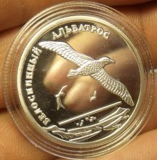 Buy Fantasy Silver-Plated Proof Russia 2010 2 Roubles~Short Tailed Albatross~Fr/Ship