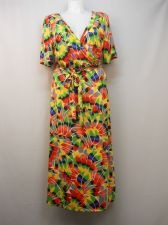 Buy PLUS SIZE 2X Womens Maxi Dress MAGIC Short Sleeves Pullover Surplice Neck Belt