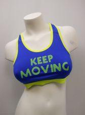 Buy BRA M Women Sport Bra DANSKIN Blue Racer Back Performance Fit Moisture Wicking
