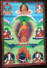 Buy SUPERB 20TH CENT TIBETAN THANGKA OF THE BUDDHA WITH SEAL