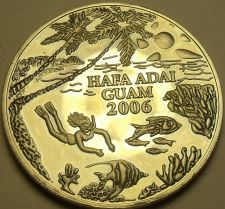Buy Proof Tuman Bay Guam Where Americas Day Begins Medallion~Divers Heaven~Free Ship