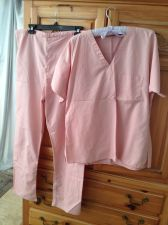 Buy Womens Pink Scrubs Size Small Beautiful Condition