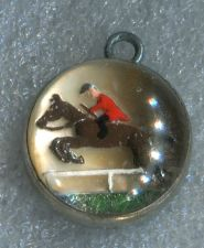 Buy GLASS BUBBLE CHARM : HORSE & JOCKEY UNDER GLASS
