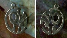 Buy vintage STERLING LOVER CHARM : ROUND CUT OUT LETTERS : SPENCER?