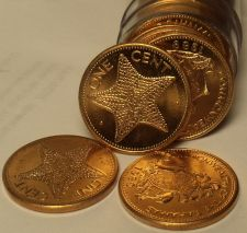Buy Gem Unc Roll (50) Bahamas 1998 Cents~Starfish Coins~Excellent~Free Shipping