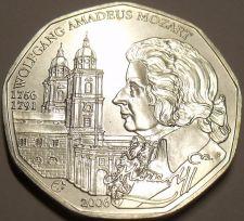 Buy Gem Unc Silver Austria 2006 5 Euro~Mozart & The Salzburg Cathedral~Free Ship