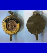 Buy COFFEE HIGH SCHOOL GOLD WASHED VERMEIL CHARM marked C over S