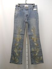 Buy Milano Moda Embellished Stonewashed Women's Boot Cut Legs 32X32 Jeans Size 9-10