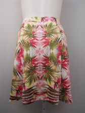 Buy Plus Size 1X INC Skirt Tropical Bloom Elastic Waist Above Knee Stretch Knit