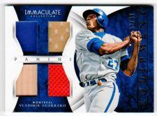 Buy MLB 2015 Panini Immaculate Vladimir Guerrero QUAD GAME RELIC /49 MNT