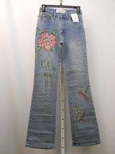 Buy Milano Moda Stonewashed Embellished Boot Cut Legs 26X33 Women's Jeans Size 4