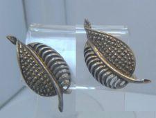 Buy Screw Back Earrings : Vintage B Beau Sterling Filigree Leaves