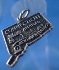 Buy travel souvenir map charm CONNECTICUT Beau Sterling